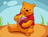 topo de bolo Ursinho Pooh